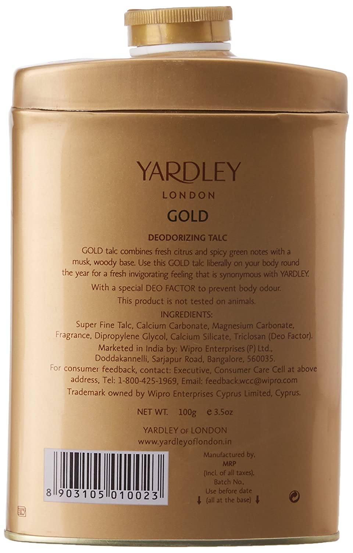 Yardley London English Lavender Perfumed Deodorizing Talc Talcum Powder 100gm Wipro Enterprises Ltd.