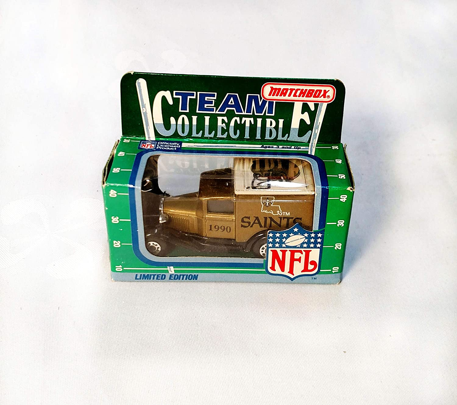 New Orleans Saints 1990 Limited Edition Matchbox Die Cast Collectible