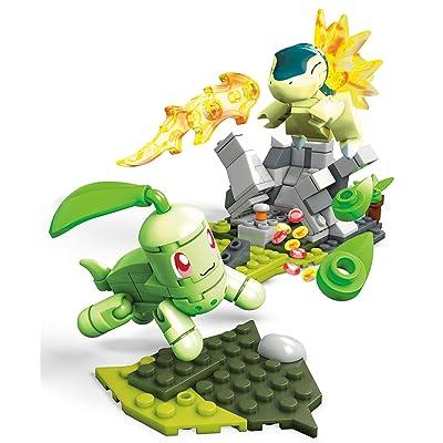 Mega Construx Pokemon Chikorita Vs. Cyndaquil Dom Building Set: Toys & Games