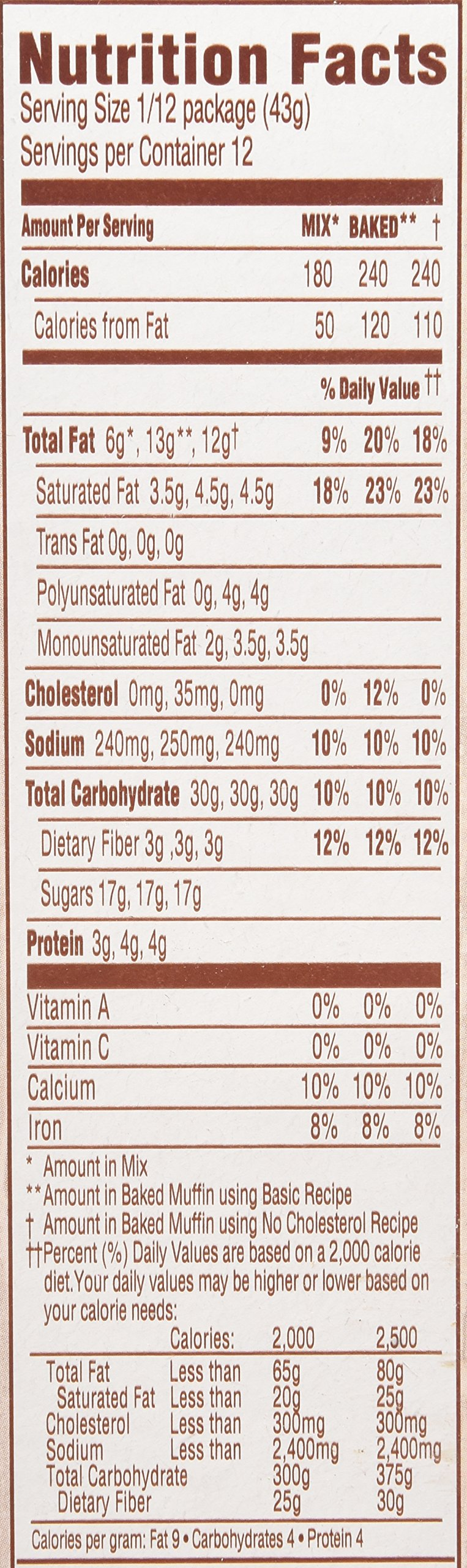 Duncan Hines Simple Mornings Muffin Mix, Triple Chocolate Chunk, 18.2 Ounce (Pack of 12) by Duncan Hines (Image #2)