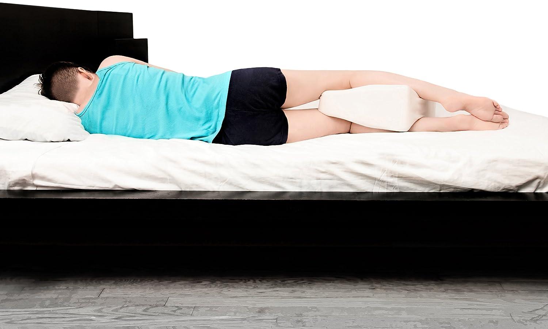 Cush Comfort Knee Cushion Cojín de Rodillas - Rodillera extralargo de Apoyo Almohada para una Recta Orientación de la Columna Vertebral Durante el ...