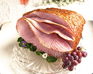 Fully Cooked Spiral Cut Honey Glazed Holiday Ham. Low Sodium and Gluten Free. 7.5 - 8.5 pounds. Serves 12 - 14. Smoked Meat and Baked with Honey