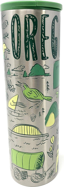 Starbucks Oregon Vacuum Insulated Stainless Steel Traveler Tumbler Coffee Mug 16 Oz