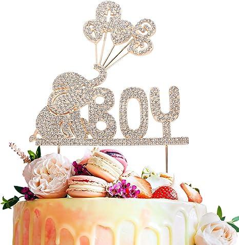 RHINESTONE It/'s A Boy Cake Topper decoration