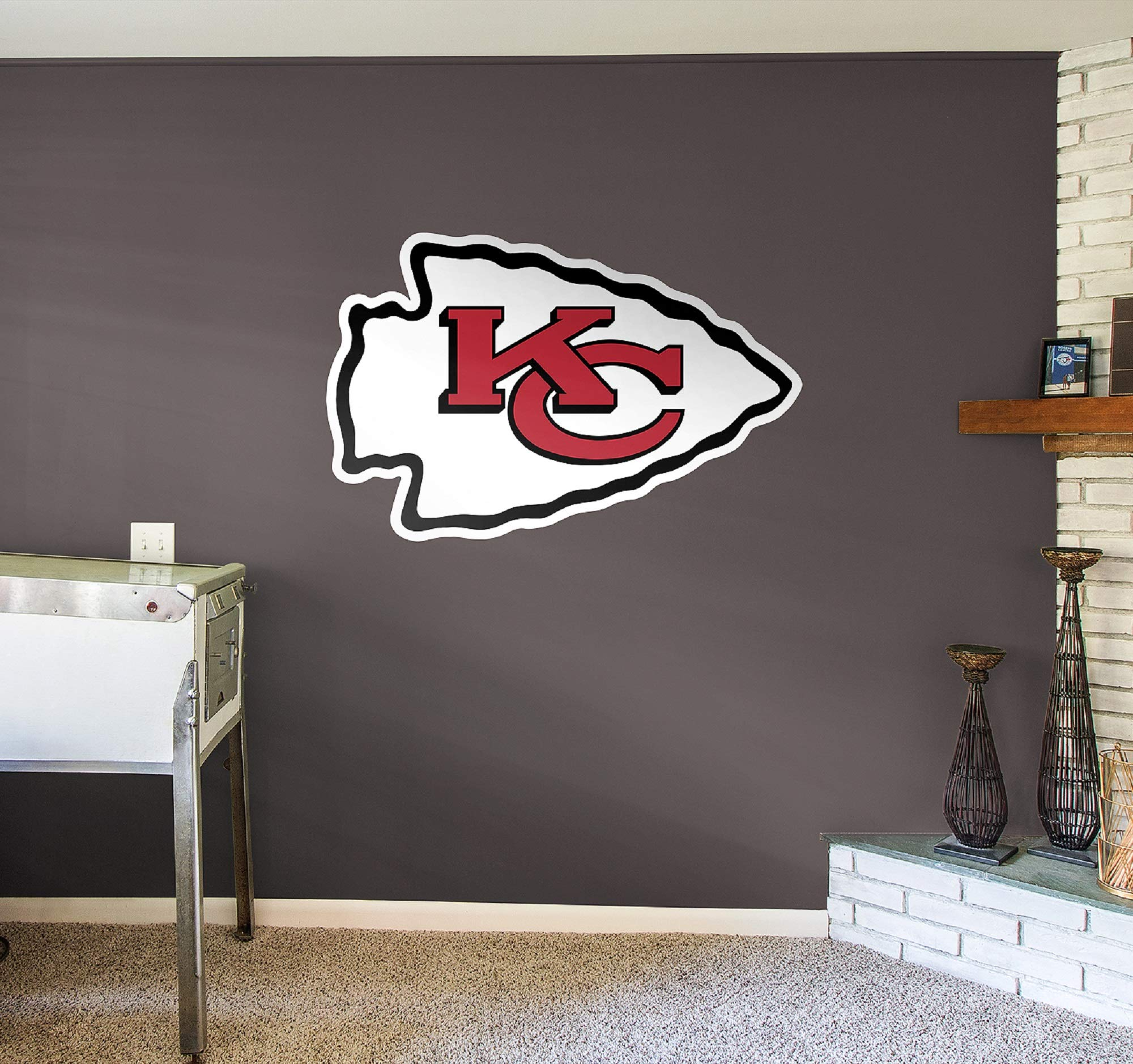 Fathead NFL Kansas City Chiefs Kansas City Chiefs: Logo - Giant Officially Licensed NFL Removable Wall Decal - 14-14018 by FATHEAD