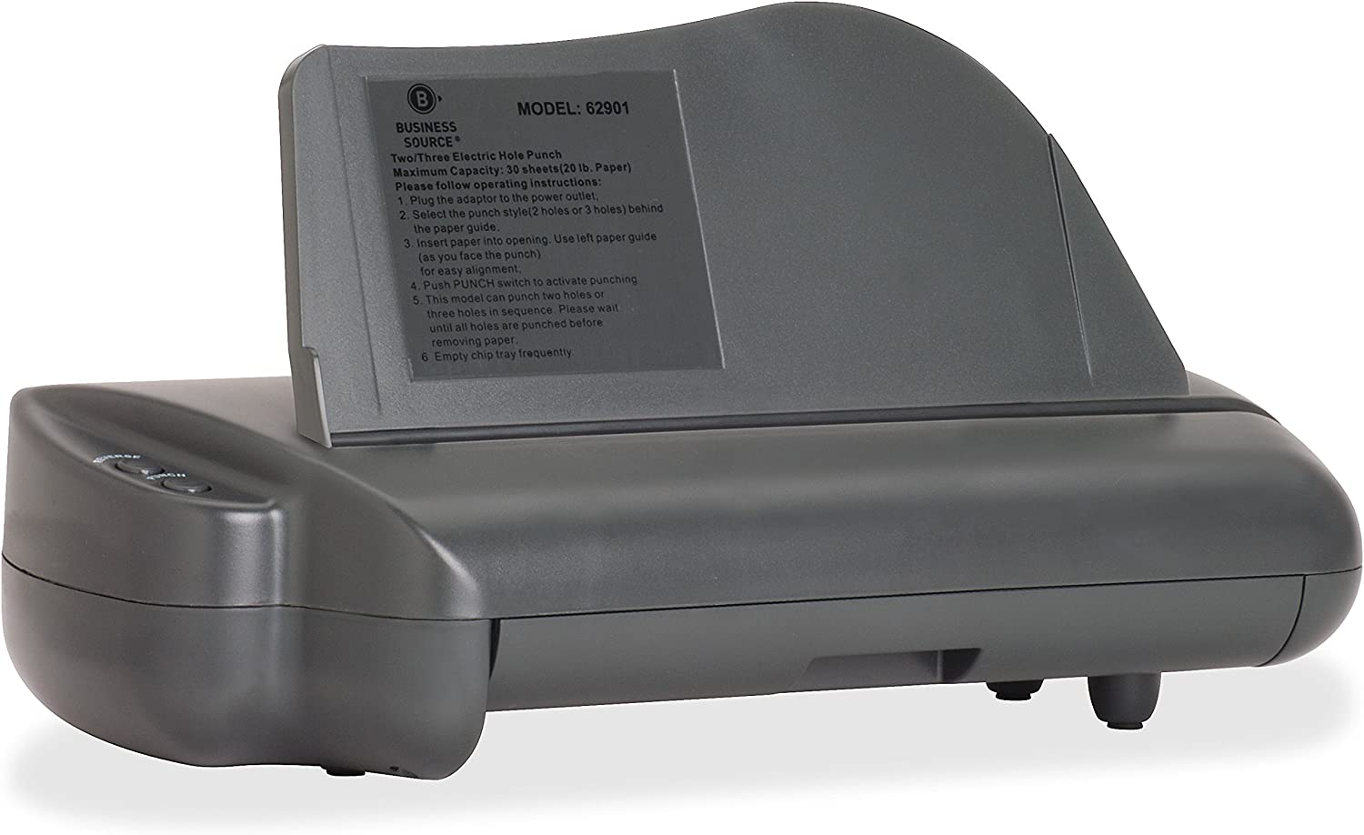 Business Source Desktop Hole Punches Powered Multi-Hole Paper Punch (62901)