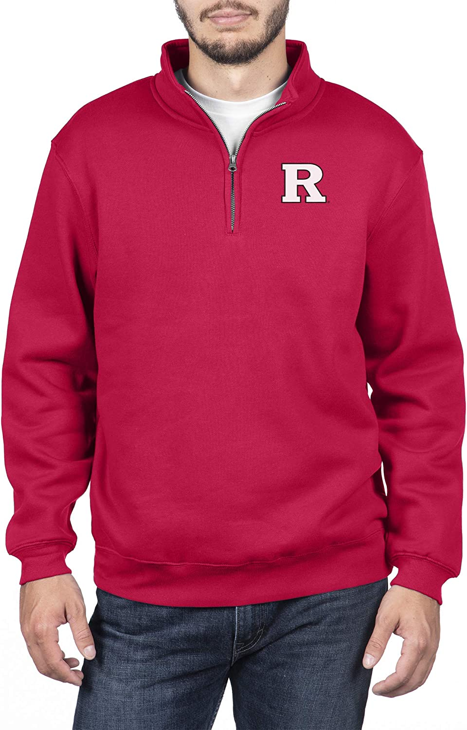 Top of the World NCAA Mens Team Color Classic Quarter Zip Pullover
