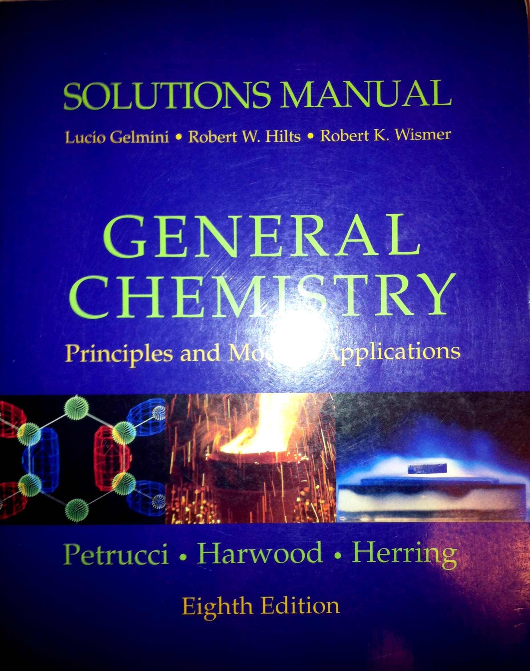 Solutions Manual: General Chemistry: Ralph Petrucci: 9780130176837:  Amazon.com: Books