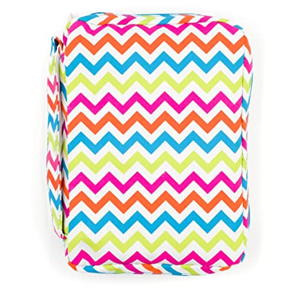 Amazon.com : Bible Cover, Colorful Chevron Book Cover with Pockets ...