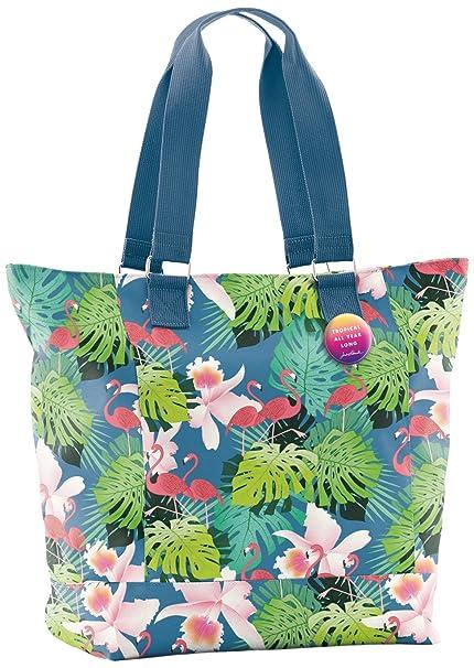 6dcf9615a Jordi Labanda Jordi Labanda 16772 - Bolso Tote Tropical, Diseño Flamingo  Bolso Bandolera