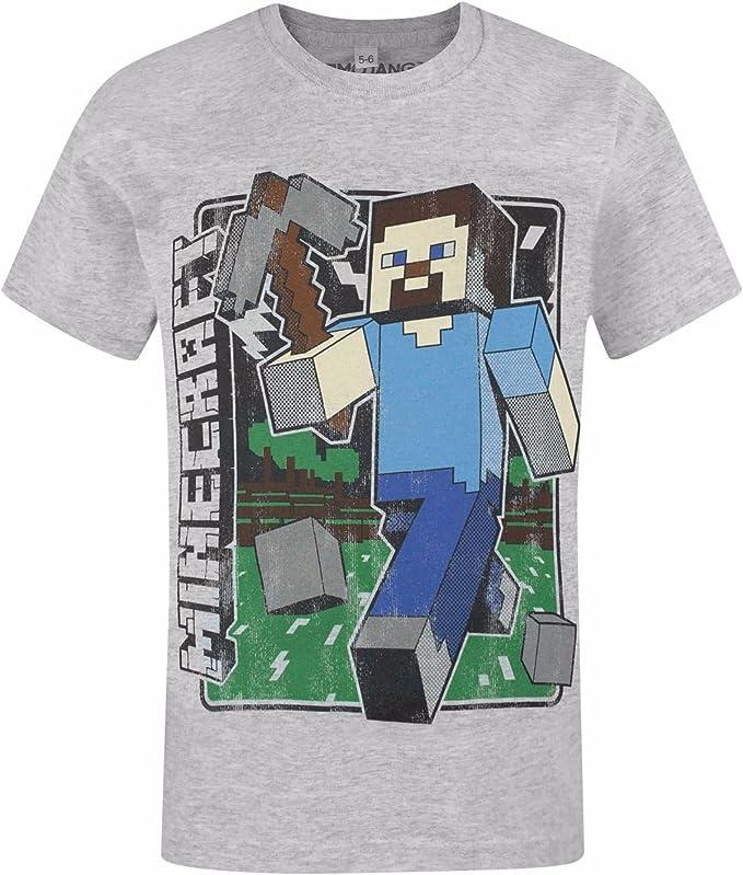 Maglietta a Maniche Corta Ragazzi Minecraft