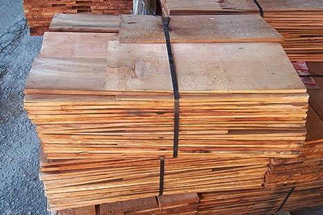 Amazon.com: Western Red Cedar Shingles etiqueta roja en la ...