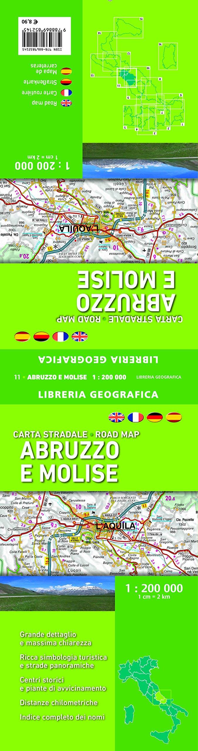 Cartina Stradale Abruzzo Molise.Amazon It Carta Stradale Abruzzo E Molise 1 200 000 Libri