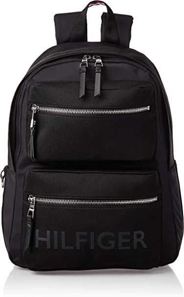 Tommy Hilfiger Bold Nylon Backpack, Borse Uomo, Nero (Black