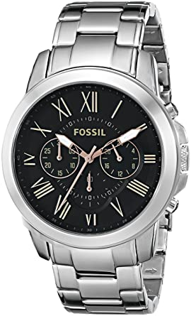 b3217bd54b9 Image Unavailable. Image not available for. Color  Fossil Men s FS4994  Grant Chronograph Stainless Steel Watch ...