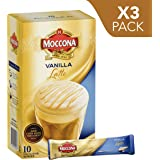 Moccona Instant Coffee Vanilla Latte - 10 Individuals Sachets (150g x 3 Packs)