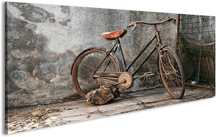 islandburner Cuadro Vieja Bicicleta oxidada sobre un Fondo Grunge Impresión sobre Lienzo - Formato Grande - Cuadros Modernos IYW: Amazon.es: Hogar