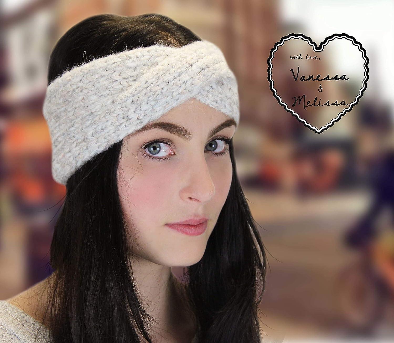Vanessa /& Melissa Stirnband Damen Haarband Ohrenw/ärmer im Schleife Design M/ädchen