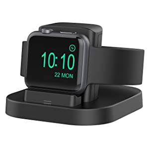 Beacoo Compatible for Apple Watch Stand with Nightstand Mode, Charging Dock Compatible Apple Watch Series4/Apple Watch Series3/ Series2/Nike+/42mm/38mm(Not fit for iWatch 5)