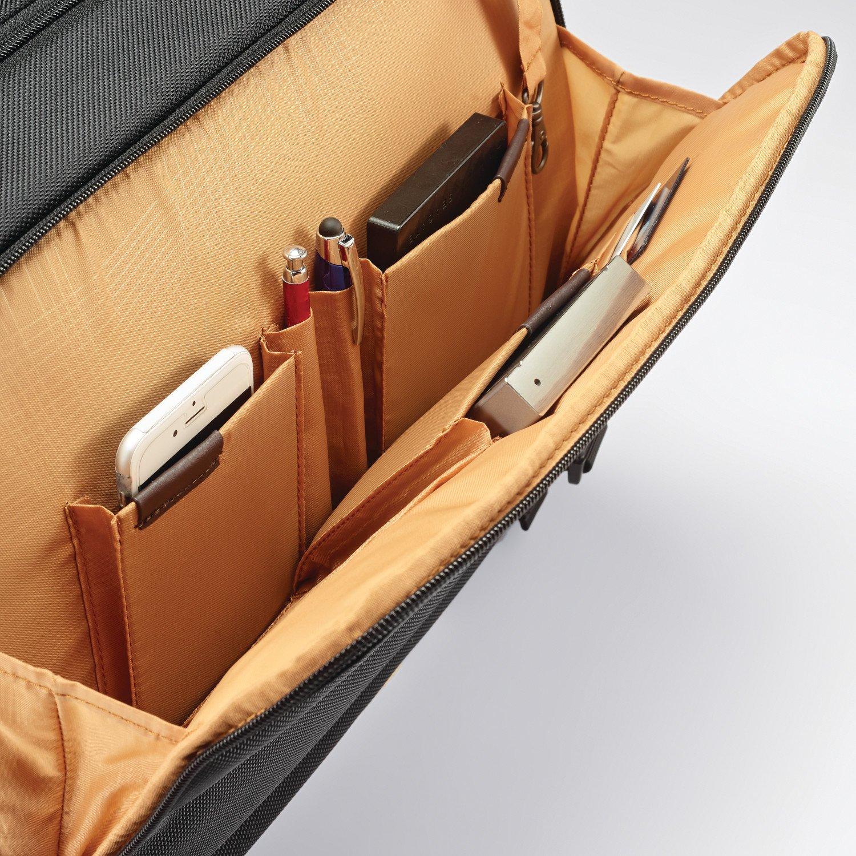 Samsonite Kombi Flapover Briefcase, Black/Brown by Samsonite (Image #5)