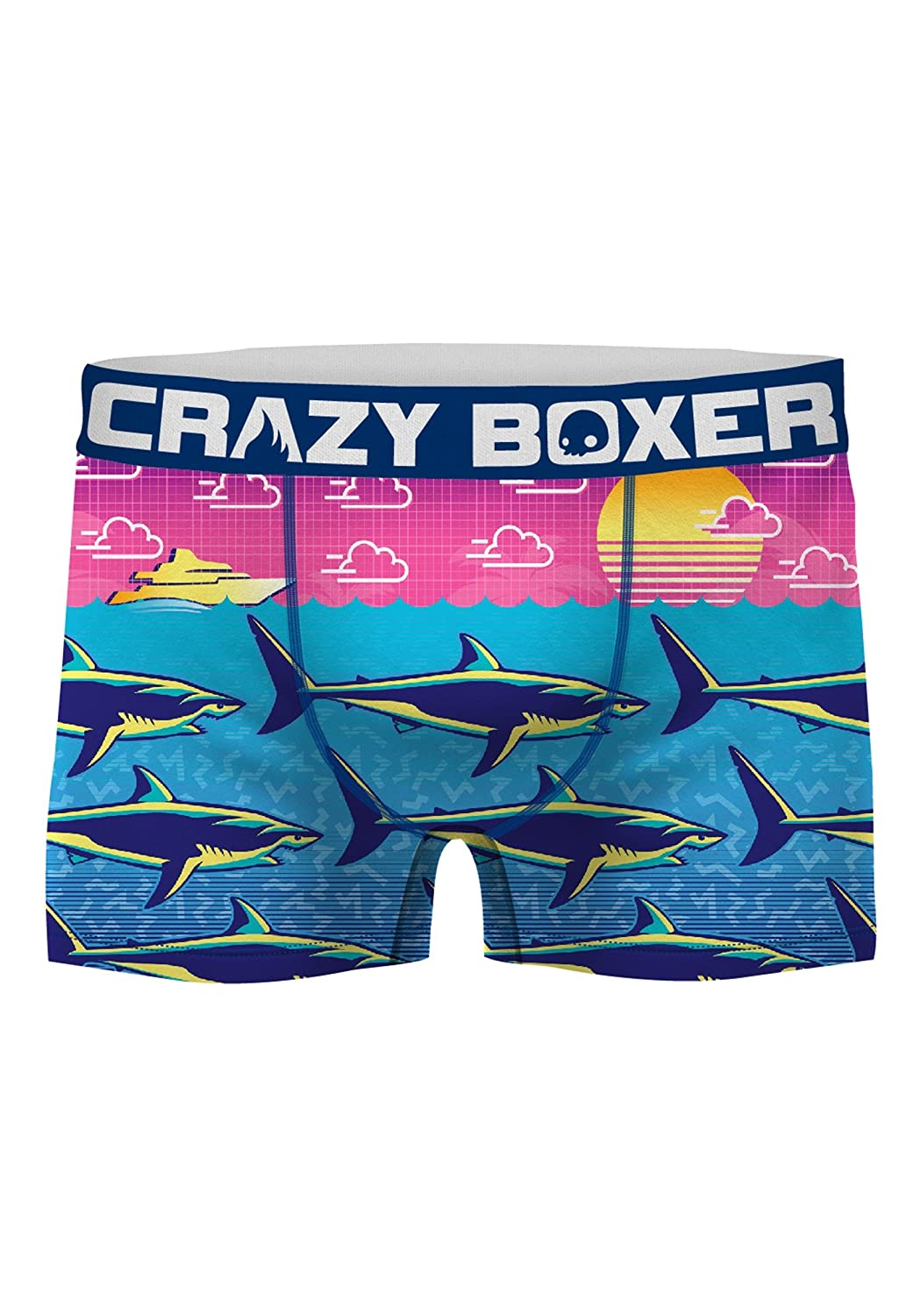 Kalan LP Crazy Boxers Men's Shark Week Neon Print Boxer Briefs