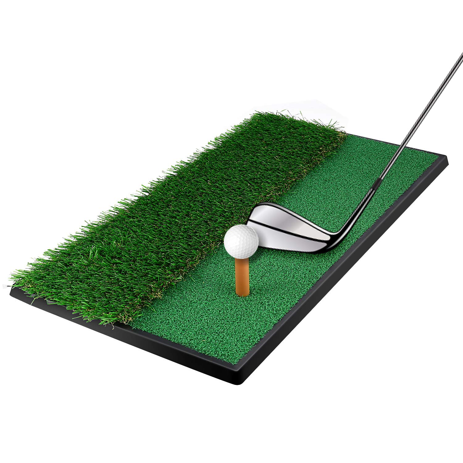 "OUTAD Golf Putting Mat 12""x24 Outdoor/Indoor Training Equipment Aid Golf Practice Mat"