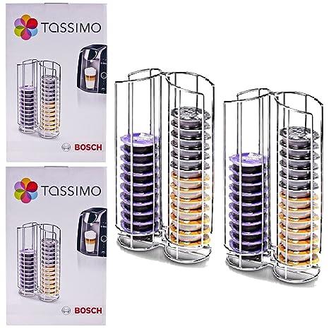 Genuino Bosch Tassimo máquina de café 32 T-Disc soporte (Pack de 2)