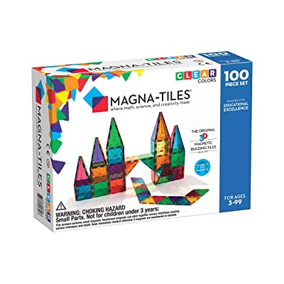 Magna-Tiles Clear Colors 100 Piece Set: Toys & Games