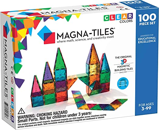 Magna-tiles are great STEM toys