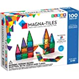 Magna Tiles 3-D Magnetic Building Tiles, Clear Colors, 100 Piece Set