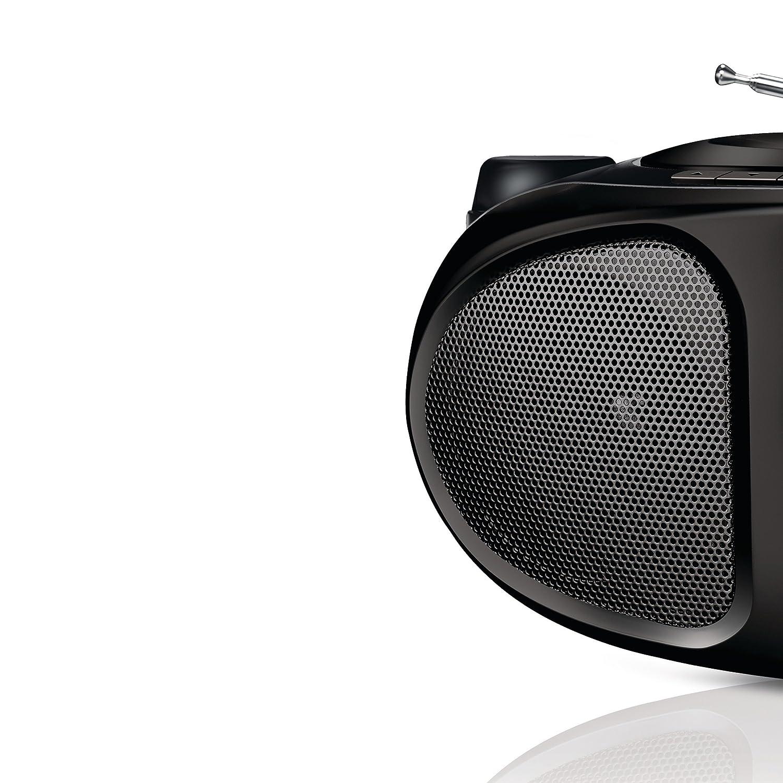 Radio CD 2 W, sintonizador FM//AM color negro Philips AZ305//10