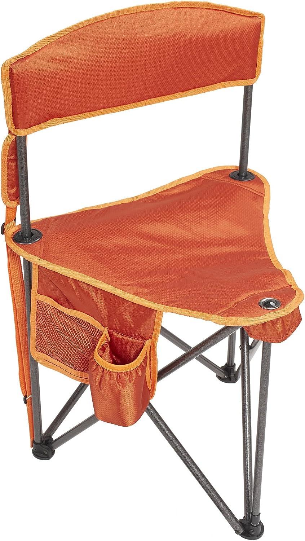 Lightspeed Outdoors Xtra Wide Nylon Ripstop Tripod Lightweight Folding Camping Sports Chair (Orange)