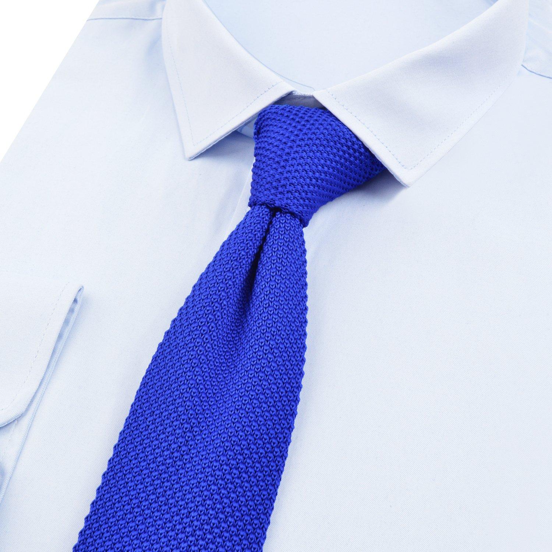 Alizeal Estructura–Corbata Estrecha de Punto para Hombre Azul ...
