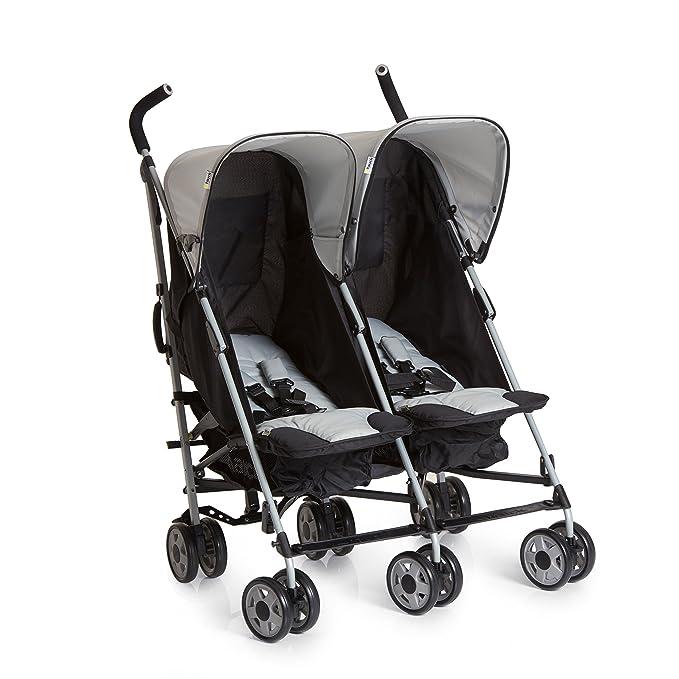 Hauck Turbo Duo - silla gemelar para gemelos y hermanos de 0 meses (combinable con capazo blando Carrycoat 2en1) a 2 x 15kg/ ancho 75cm/ ...