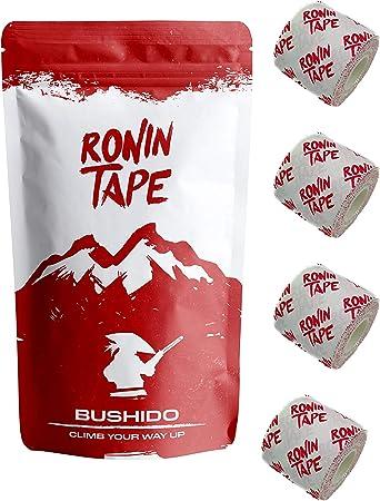 RoninTape® Bushido – Pack de 4 cintas para escalada, bouldering, gimnasia, crossfit, BJJ, Jiujitsu – resistente con agarre
