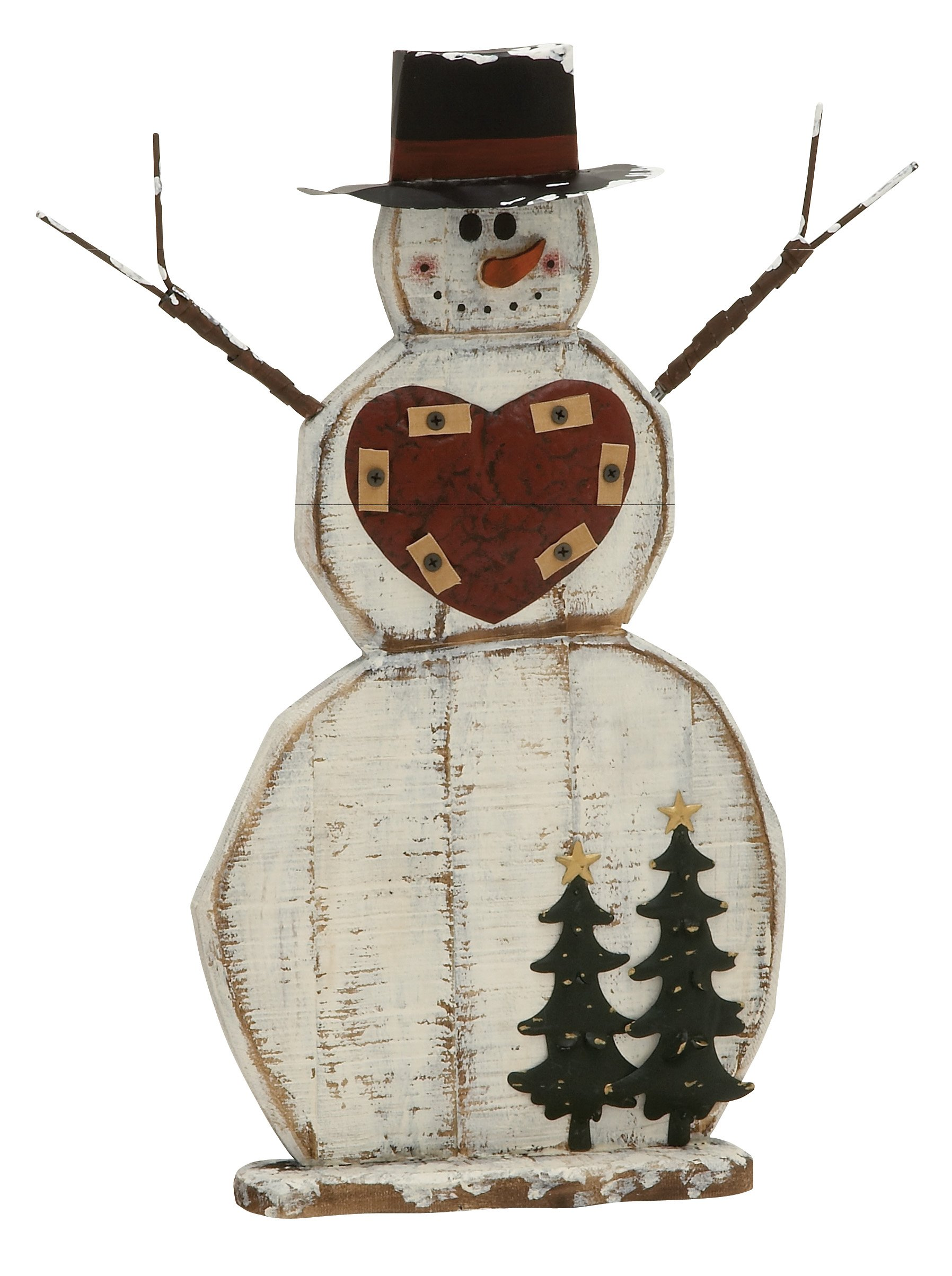 Plutus Brands Captivating Wood Metal Snowman by Plutus Brands (Image #1)