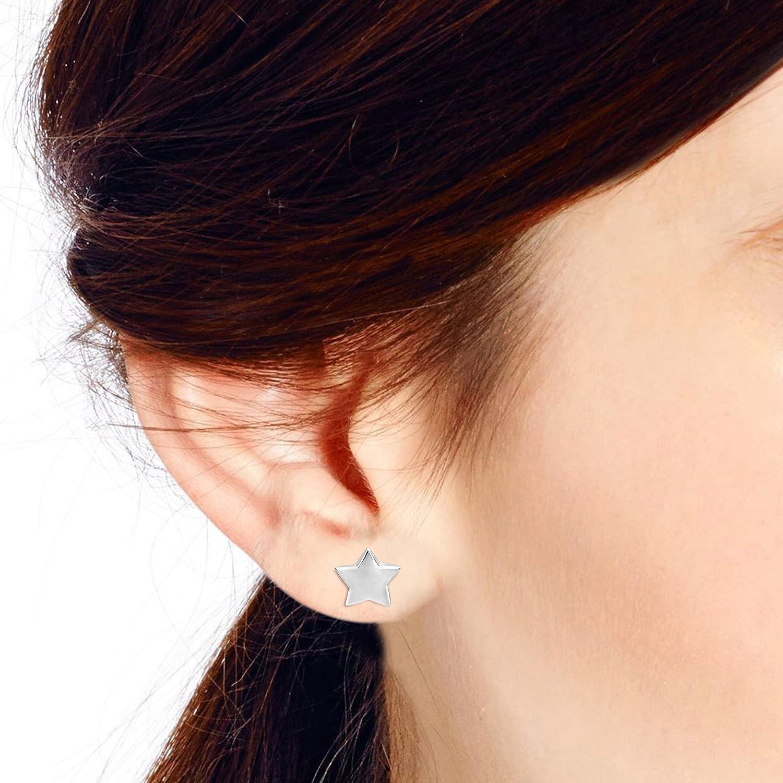 Fabulous Puffy Star .925 Sterling Silver Stud Earrings