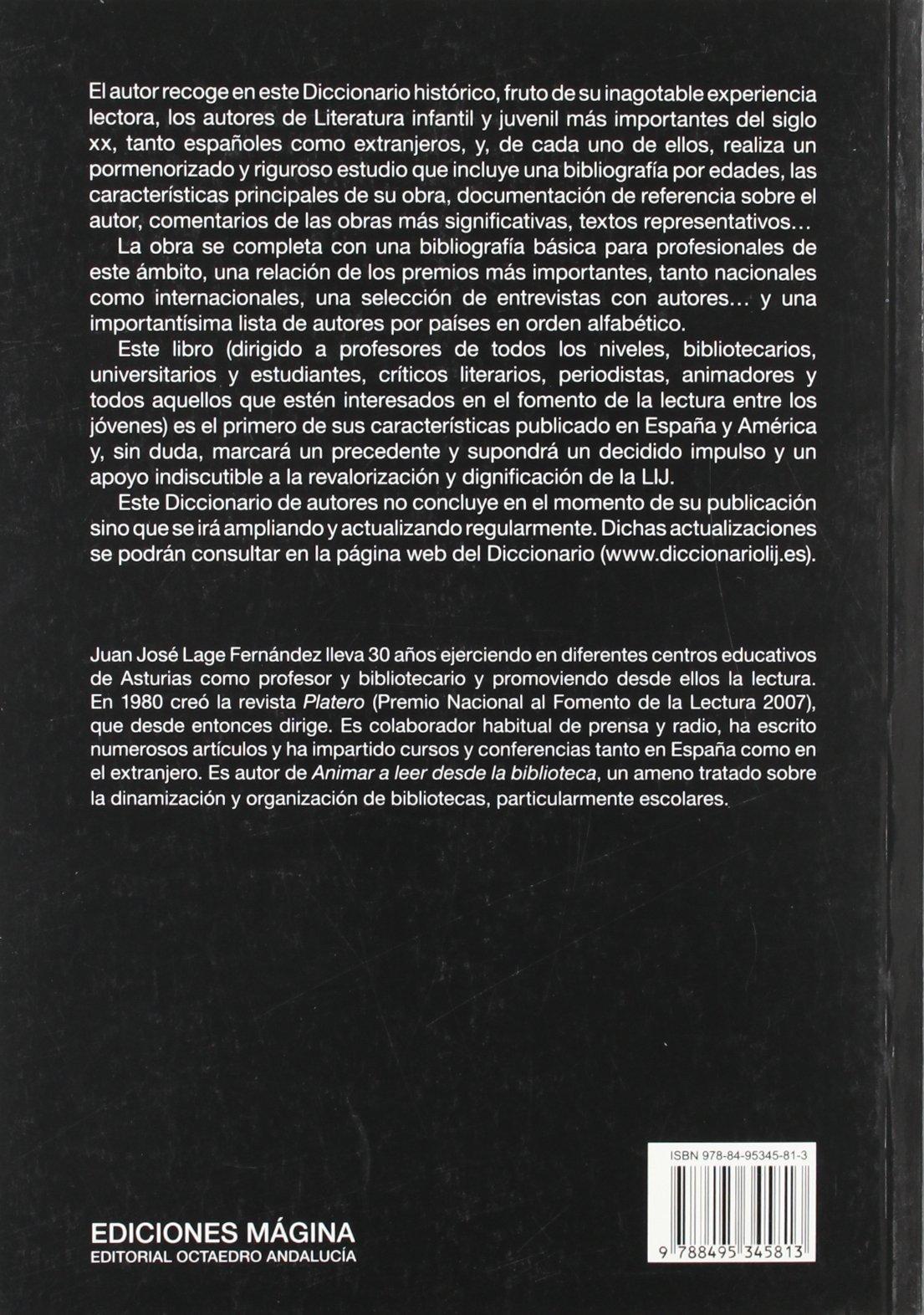 Historico de autores de la literatura infantil contemporanea: Juan José LAGE FERNÁNDEZ: 9788495345813: Amazon.com: Books