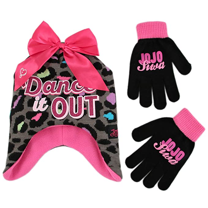 5c345291130 Nickelodeon Girls  Little JoJo Siwa Hat and Gloves Cold Weather Set ...