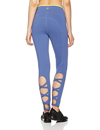 1ceca7524b Amazon.com: 7Goals Women's Stretchy High Waist Tummy Control Criss CROS  Wotkout Leggings Yoga Pants, True Navy, L: Clothing