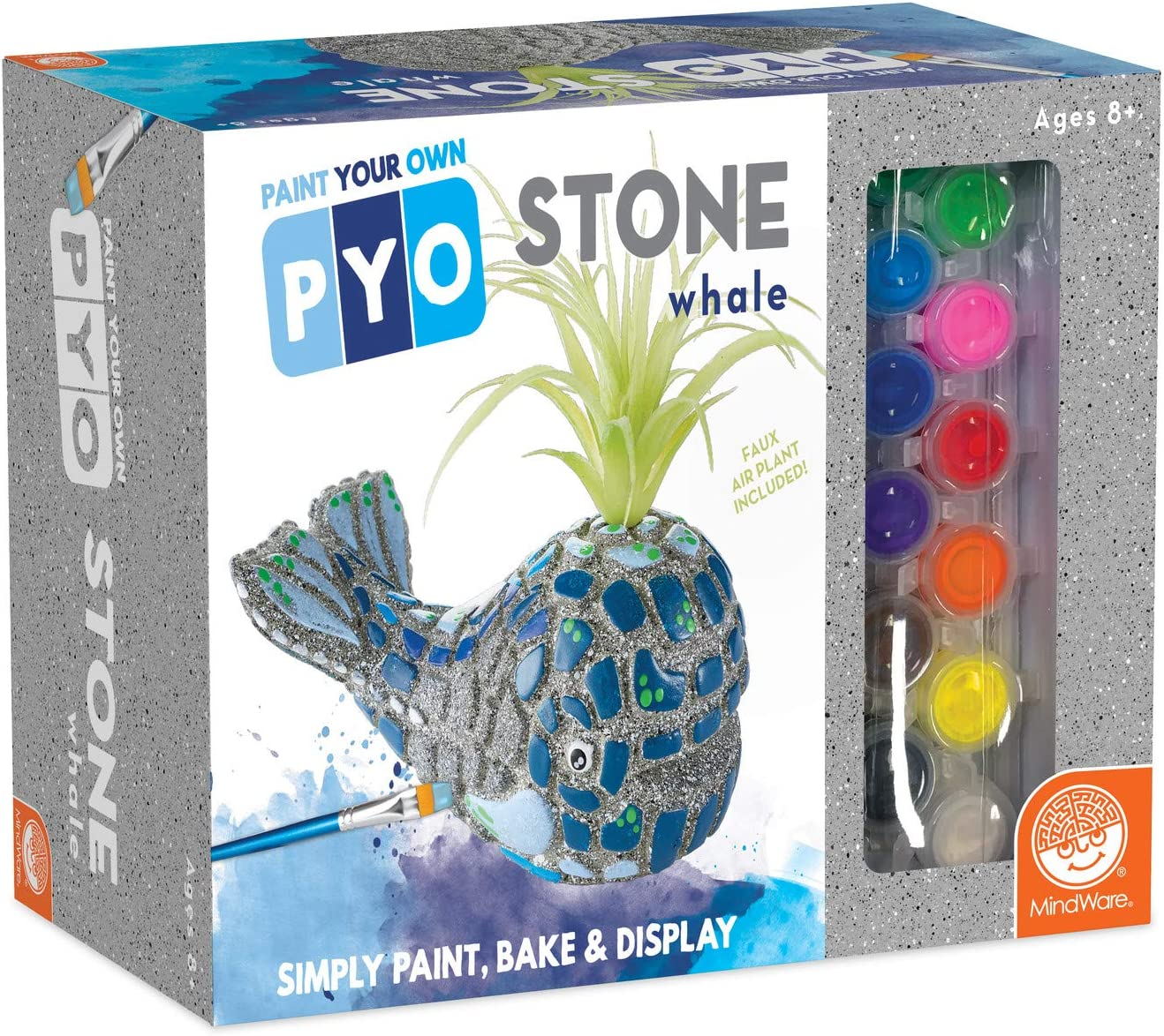 MindWare Paint Your Own Stone: Whale with Airplant spout