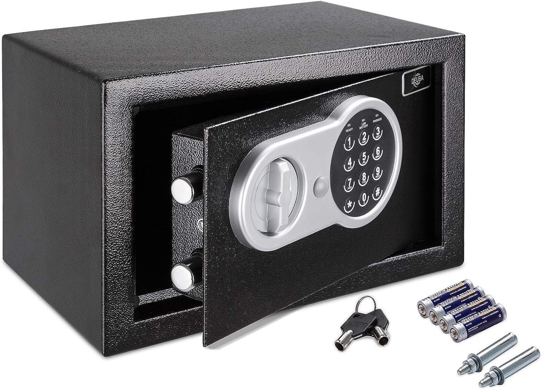Deuba Caja Fuerte Seguridad Safe Negro Cierre electrónico 20 x 31 x 20 cm código de Seguridad Suelo Pared hogar Oficina: Amazon.es: Bricolaje y herramientas