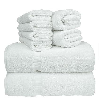Juego de toallas de baño de lujo de hotel y spa, 100% algodón turco