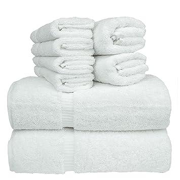 Juego de toallas de baño de lujo de hotel y spa, 100% algodón turco auténtico, ...