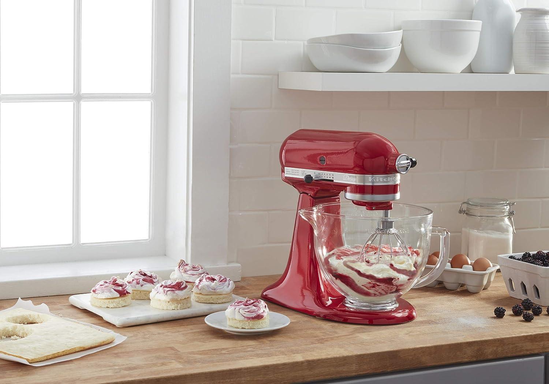KitchenAid KSM155GB 5 qt. Diseño de artisan Series soporte mezclador 5-qt. Candy Apple Red: Amazon.es: Hogar