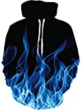 UNICOMIDEA Mens Womens 3D Hoodies Pullover Sweatshirts with Big Pockets M-XXL