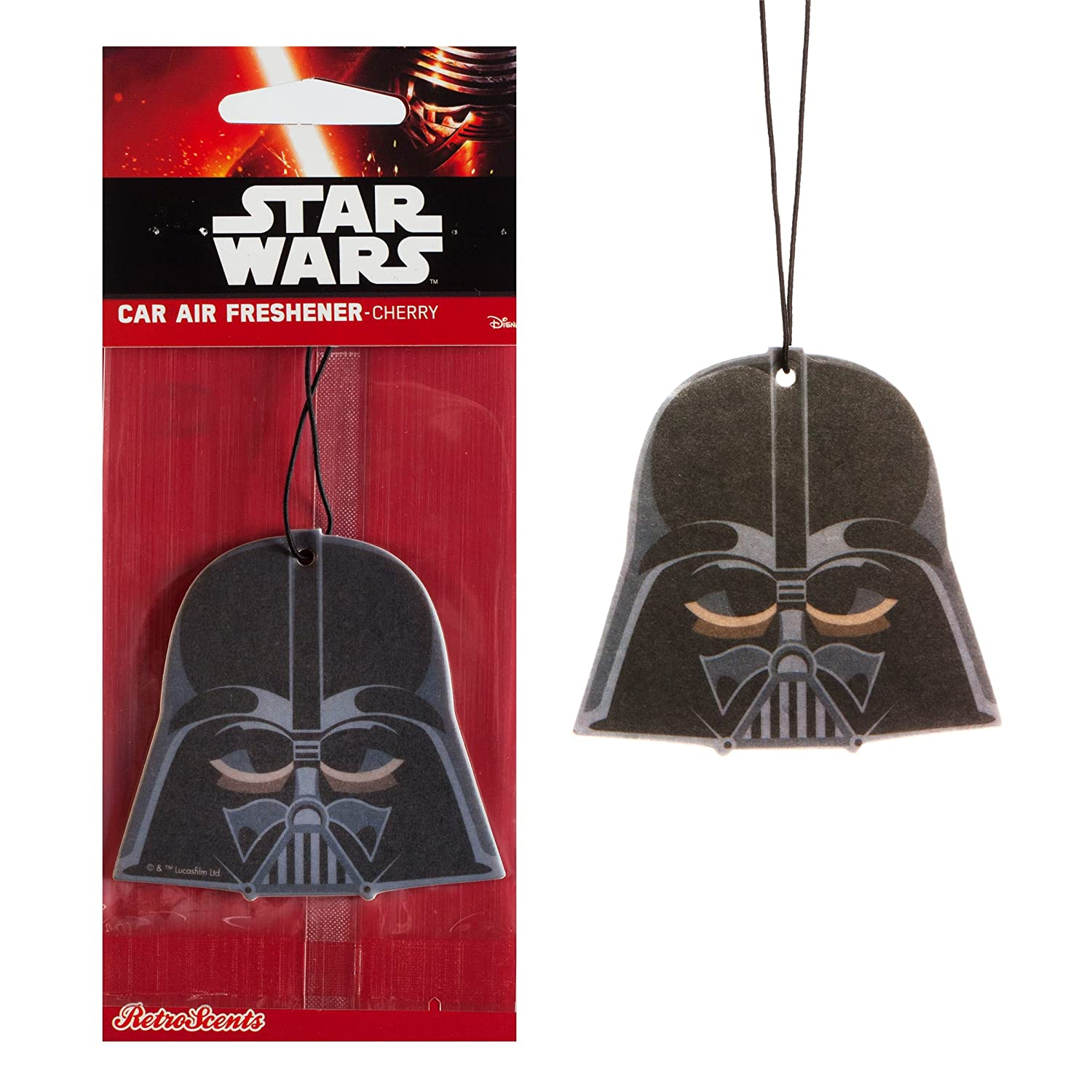 Star Wars Official Disney Car Air Freshener Twin Pack - Storm Trooper + Darth Vader Retro Scents