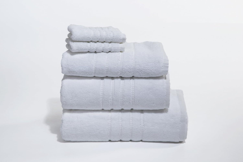 Pure Egyptian Cotton Towel Set - Zero Twist, 600gsm – available in 7 Colours (White) My Duvet & Pillow