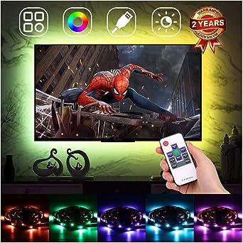 Iluminación ambiental LED de retroiluminación para TV de 60 a 75 pulgadas, luz LED USB, luz
