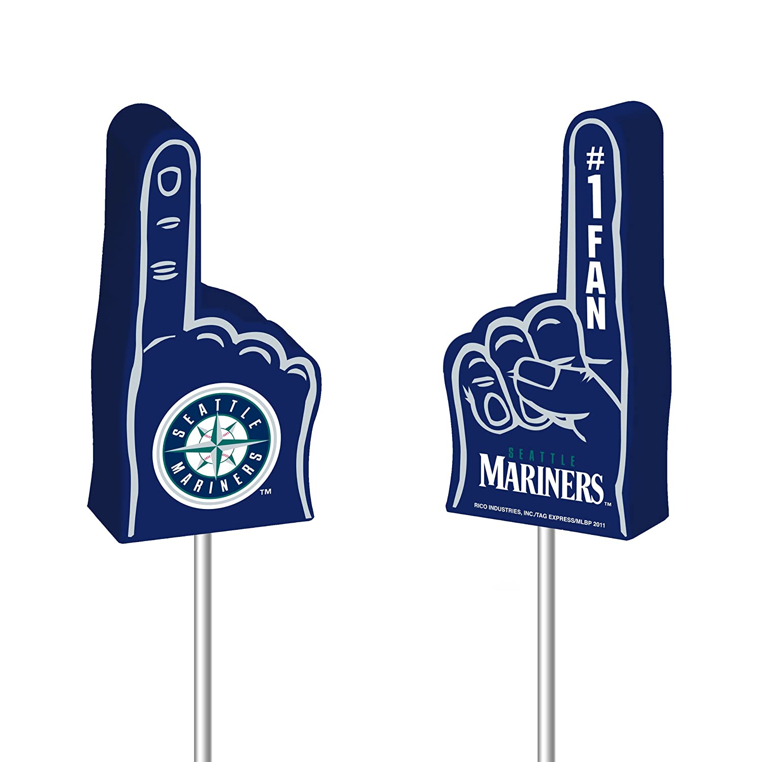 MLB Seattle Mariners Foam Finger Antenna Topper Rico Industries Inc. FNFF4901